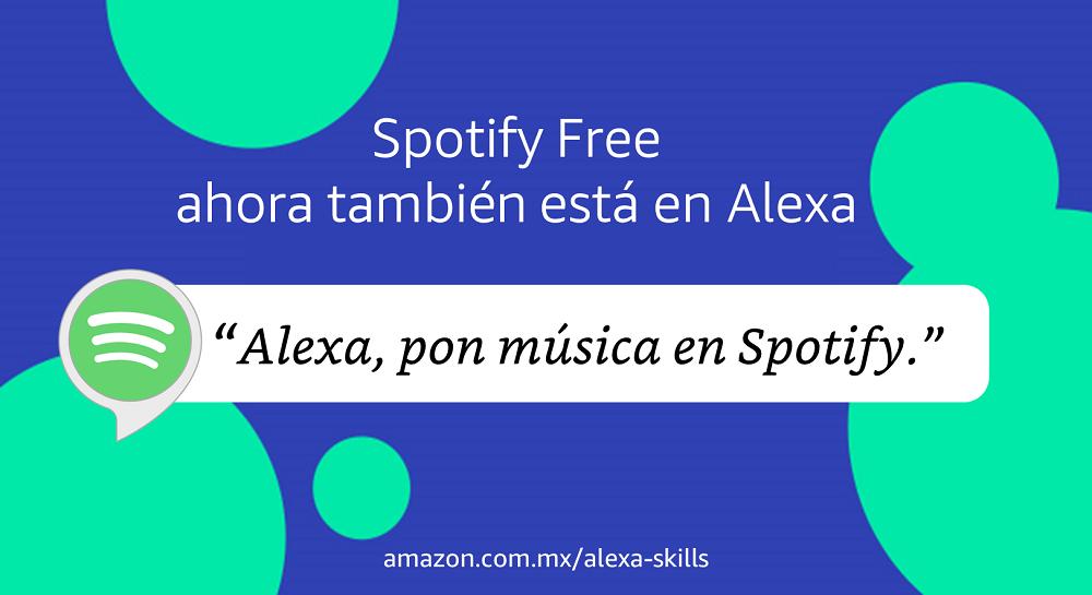 Spotify Free ahora también está en Alexa